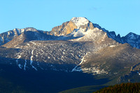 Longs Peak (14255 ft) and Powell Peak (13208 ft) in the back ground (on the right)
